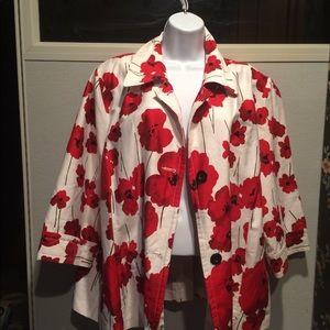 Erin by Erin London Red Poppy Jacket Size 2X